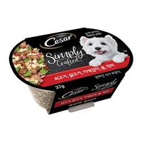 시저 심플리 쇠고기&닭고기&자색감자&콩&적미 37g