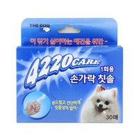 더독 4220 1회용 소프트 손가락 칫솔 30매