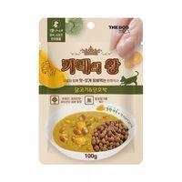 더독 카레의 왕 닭고기&단호박 파우치 100g