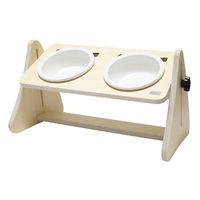 제프리공방 강아지 높이조절 원목식탁 2구 기본 (식기포함)
