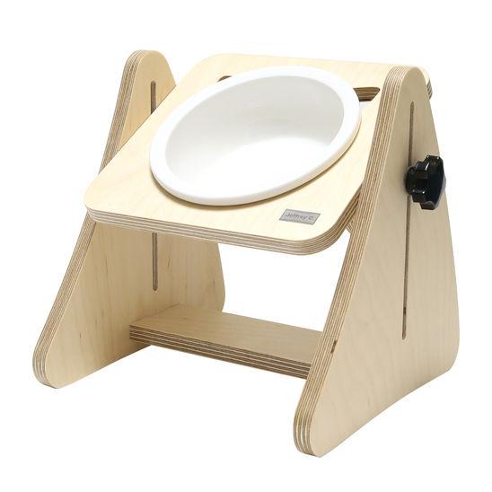 제프리공방 강아지 높이조절 원목 식탁 1구 프리미엄 (식기포함) 사진