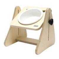 제프리공방 강아지 높이조절 원목 식탁 1구 프리미엄 (식기포함)