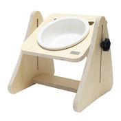 제프리공방 강아지 높이조절 원목식탁 1구 기본 (식기포함)